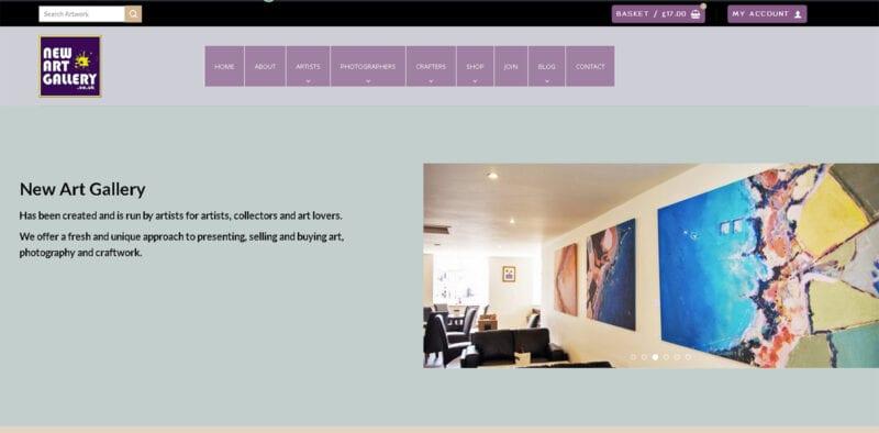 New Art Gallery Website