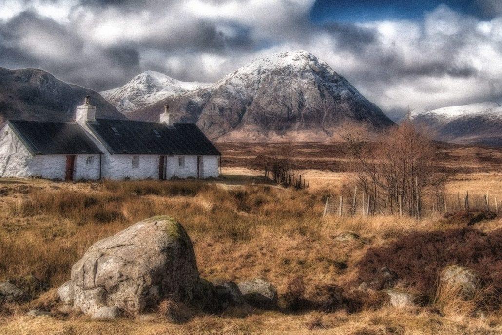 'Black Roof Cottage - Scottish highlands' by David Butler