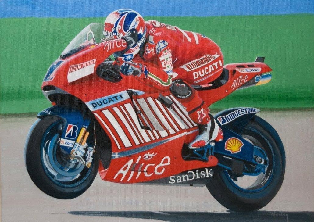 'Casey Stoner - Moto GP Champion' by Morton Murray