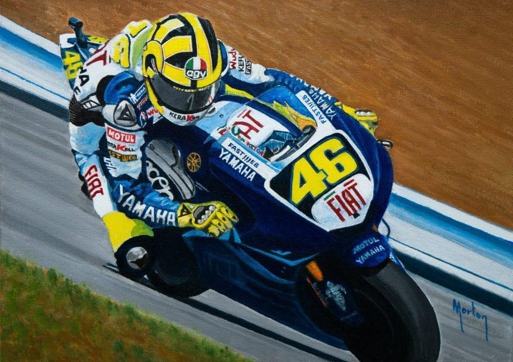 'Valentino Rossi - Eight Times World Champion' by Morton Murray