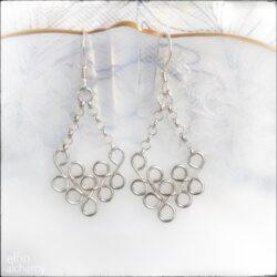 Elfin alchemy sterling silver earrings with chain