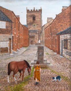 'Church Street, Croston' by George Horsfield