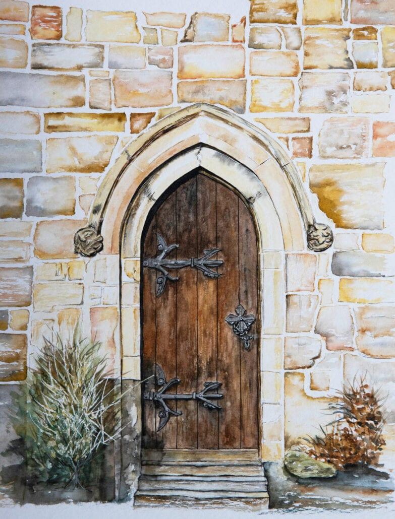 'Skipton Doorway' by Helen Worthington