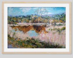 'Kern Mill Lodge' print framed by Pat Richardson