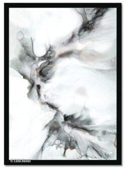'Kissing The Cold 1' Framed Print by Celia Davies