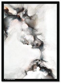 'Kissing The Cold 3' Framed Print by Celia Davies