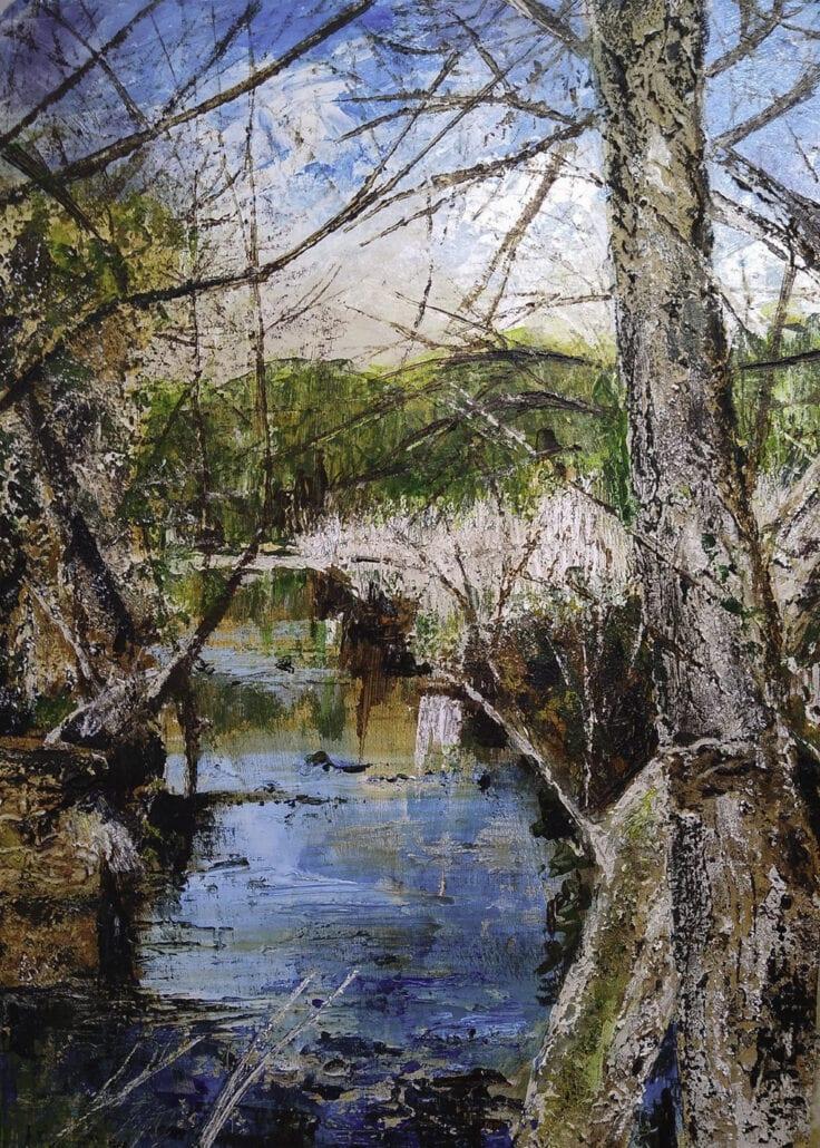 'River Lostock, Cuerden' by Pat Richardson