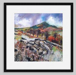 'Rocky Outcrop' by Pat Richardson, framed fine art print
