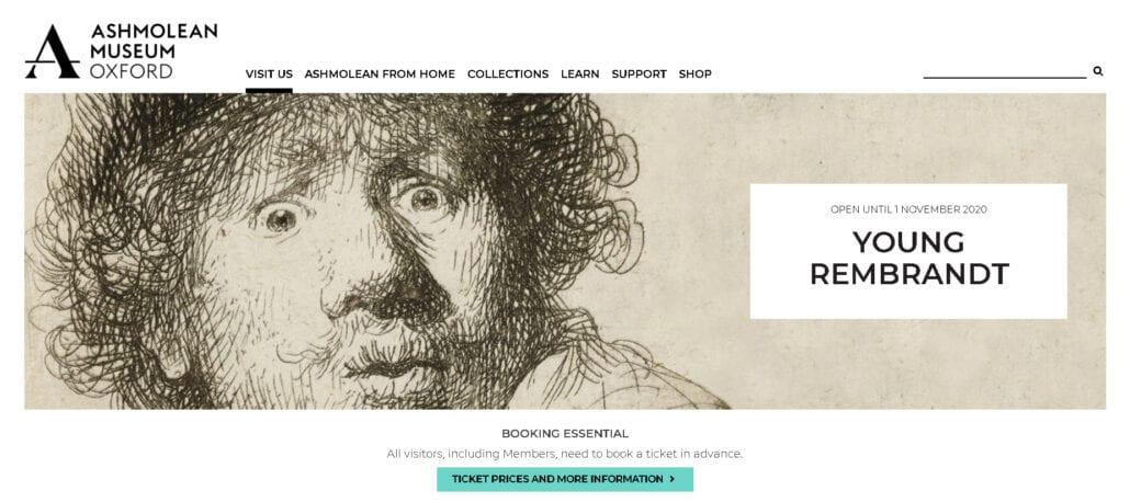 Young Rembrandt at the Ashmolean Museum till Nov 1