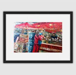 'Borough Market' framed fine art print by Pat Richardson