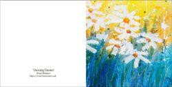 'Dancing Daisies' a greetings card by Rosie Rimmer