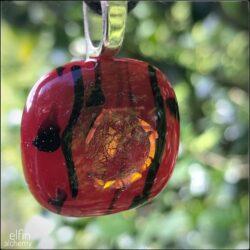 Elfin Alchemy Red Glass Pendant by Sam Rowena Taylor