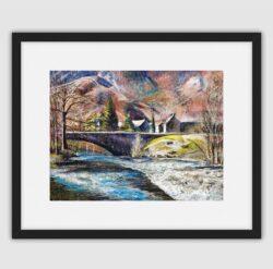 'Grange, Borrowdale' Framed print by Pat Richardson