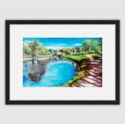 'Johnson's Hillock Locks' Framed fine art print by Pat Richardson
