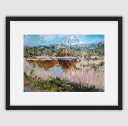 'Kern Mill Lodge' Framed print by Pat Richardson