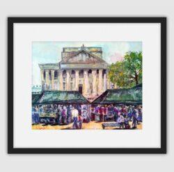 'Makers Market' Framed fine art print by Pat Richardson