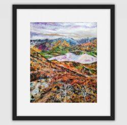 'Light Dusting of Snow' Framed fine art print by Pat Richardson
