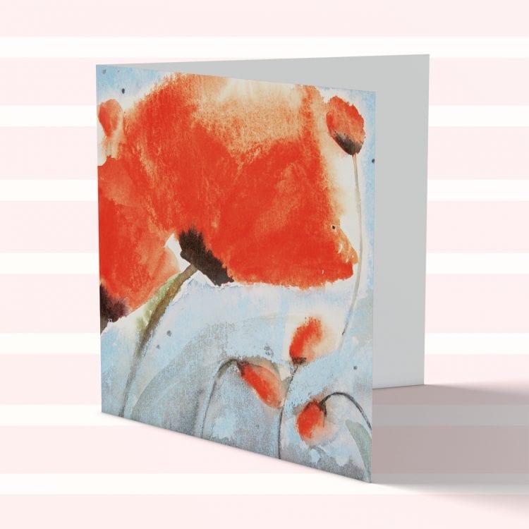 'Poppy' sqaure card by Rosie Rimmer