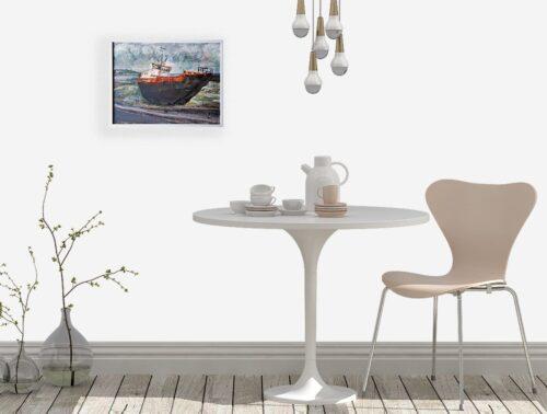 'Rusty Old Boat' by Pamela Wakefield, on wallset