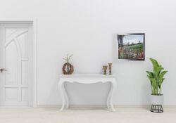 'Wayside Poppies' by Pamela Wakefield in room set
