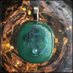 elfin alchemy wearable works of art blue-green pendant