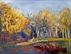 'Woods Before the Leaves Fell' by Pamela Wakefield