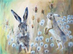 'Hares Run Free' by Pamela Wakefield