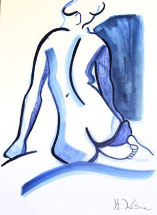 'Blue Nude' by Karen Wise