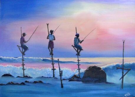 'Stilt Fishermen in Sri Lanka' by Chris Rowe