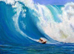 'Big Wave Surfer' by Chris Rowe