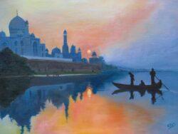 'The Taj at Dawn' by Chris Rowe