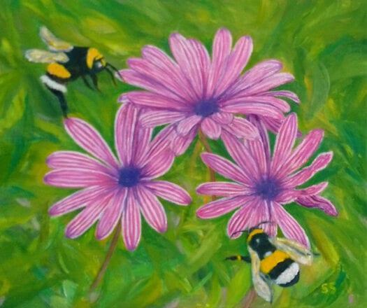 'Happy Bees' by Suzi Stephens