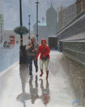'London in the Rain' by Chris Rowe