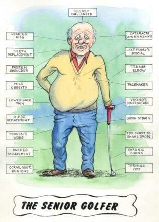 'The Senior Golfer' - a card by Chris Rowe