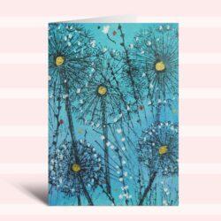 'Dandelion Clocks ll' a card by Rosie Rimmer