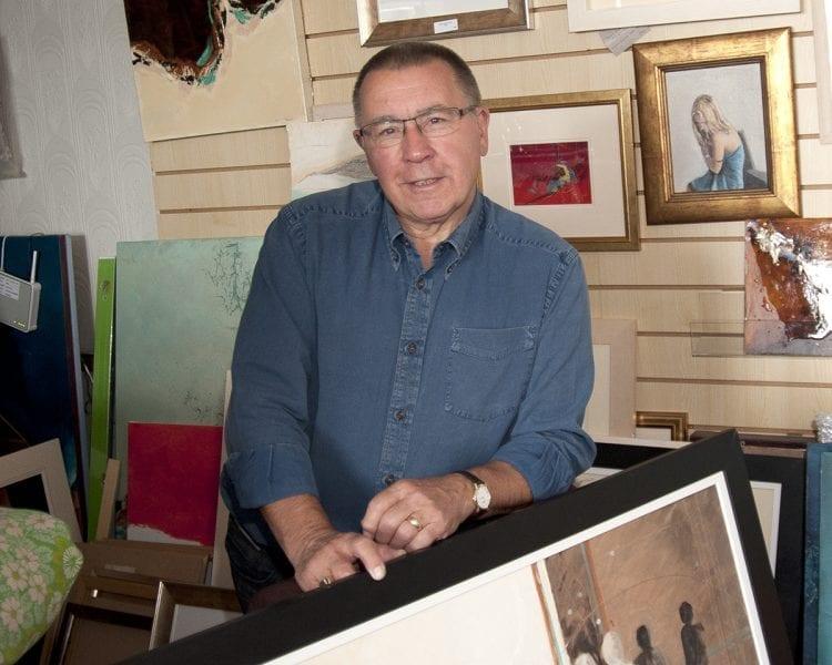 Gerry Halpin in his studio