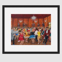 'The Tudor Ballroom, Chorley, Early 1960's' by George Horsfield. Framed print.
