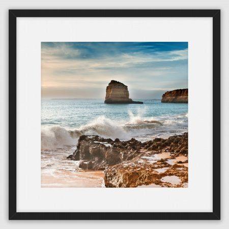 'Coastline of the Praia de Luz, Portugal' A framed fine art print by Stephen Knowles