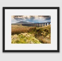'Ribblehead Viaduct & Ingleborough'. A framed fine art print by Stephen Knowles
