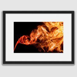 'Smoke on Fire' a framed fine art print by Stephen Knowles