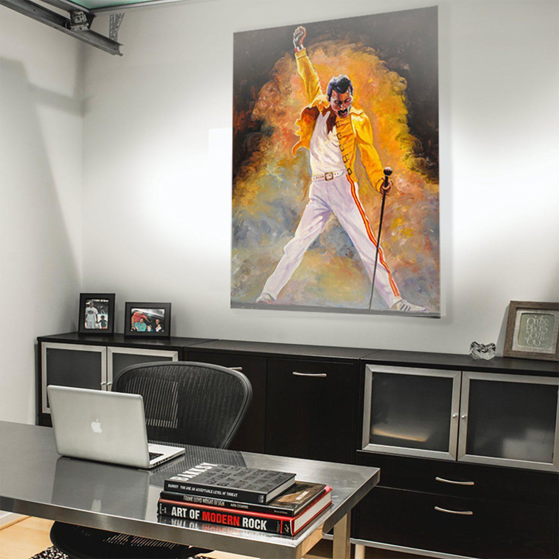 'Freddie Mercury' by Chris Rowe. Print in room.