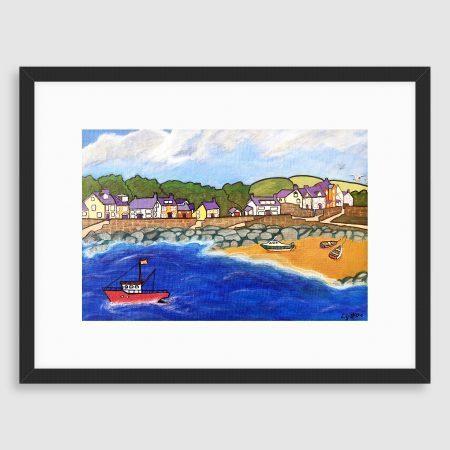 'Newport Bay'. Fine art print and card by Lynartwales