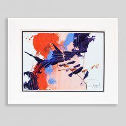 'Oriental Rising Sun l' an original painting by Gerry Halpin