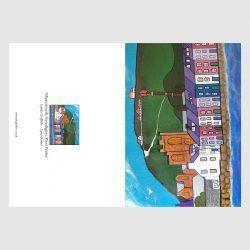 Open card of Aberystwyth by Lynda Griffiths