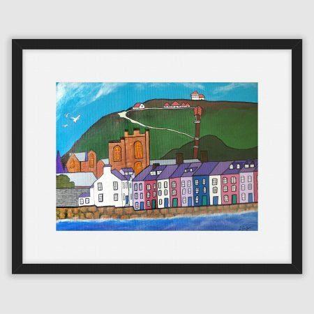 Framed print of Aberystwyth by Lynda Griffiths