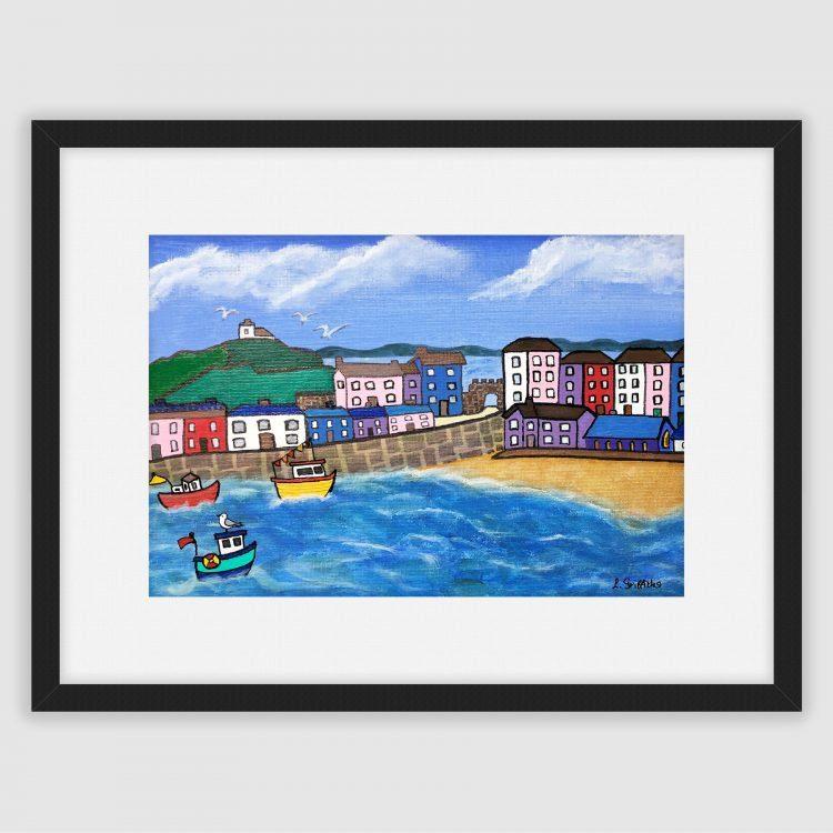 Fine art print of Tenby Harbour by Lynartwales