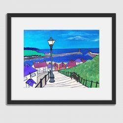 'Whitby, 199 Steps' framed fine art prints by Lynda Griffiths (Lynartwales)