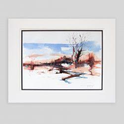 'Moorland: Bare Tree and Bracken' Original painting by Gerry Halpin