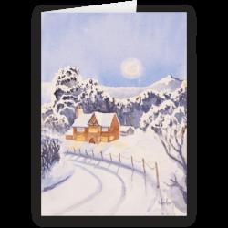 Winter Snow, Rivington. A fine art Christmas Card by Morton Murray