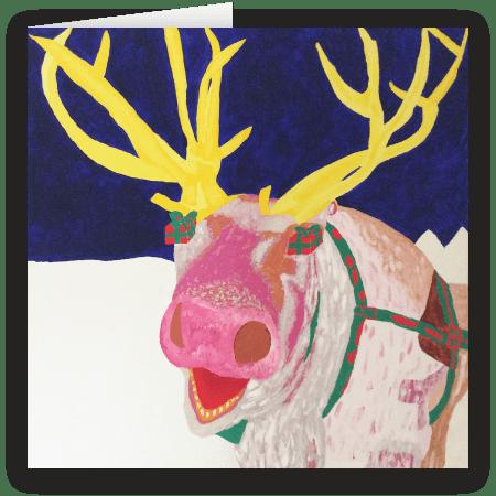 Be Present. A fine art Christmas Card by Caroline Boff